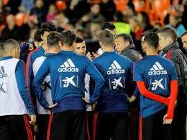 España preparó el duelo ante Malta en El Saler. EFE/Archivo