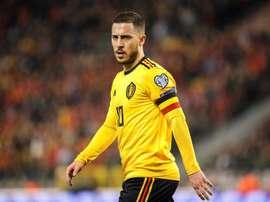 Hazard's historic centenary for Belgium. EFE