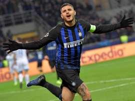 Icardi voltou a treinar com o Inter de Milão. EFE