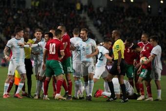 El Sevilla confirmó que sus internacionales marroquíes están bien. EFE