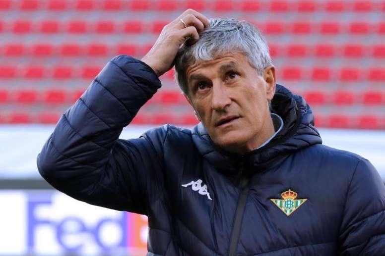 Setien will remain at Betis next season. EFE/Archivo