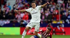Lucas Vazquez (L) will definitely miss the trip to Mallorca. EFE/Archivo