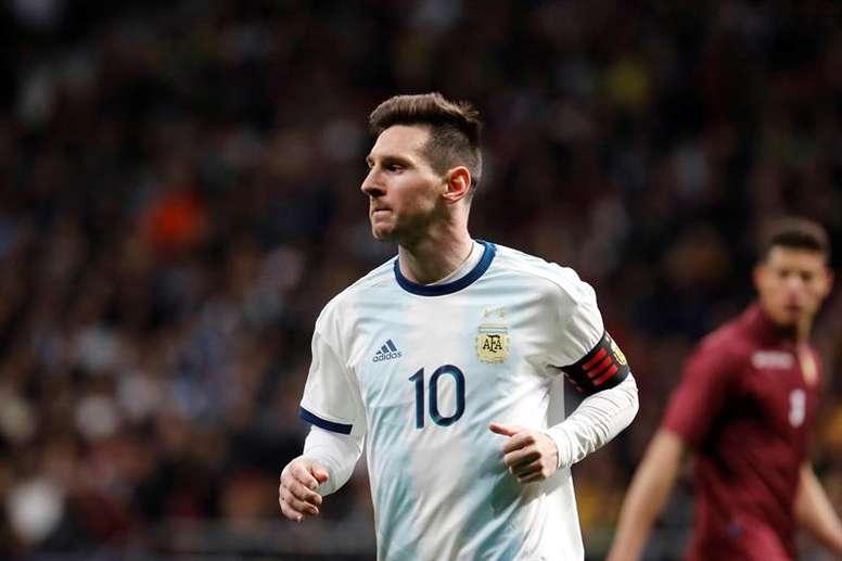 Messi coloca Copa América 2021 como prioridade e aprova planos da seleção argentina. EFE/Arquivo