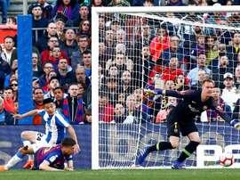 Wu Lei ne veut pas voir le Barça gagner. EFE