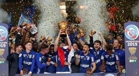 El Estrasburgo, campeón de la Copa de la Liga 2018-19. EFE