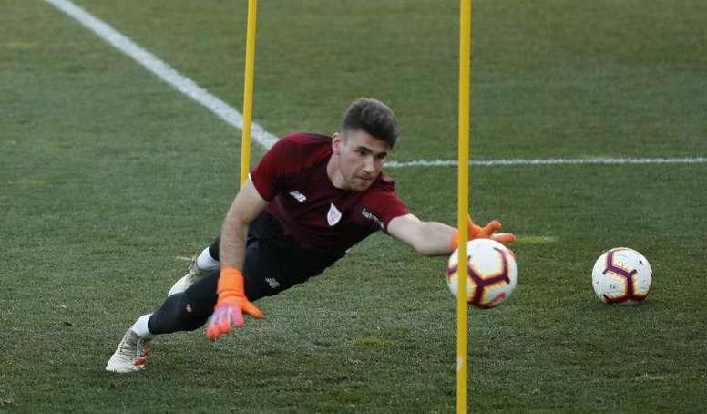 Unai Simón no realizó un buen partido frente a Italia. EFE/Archivo