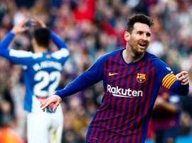 Le derby de Messi. EFE