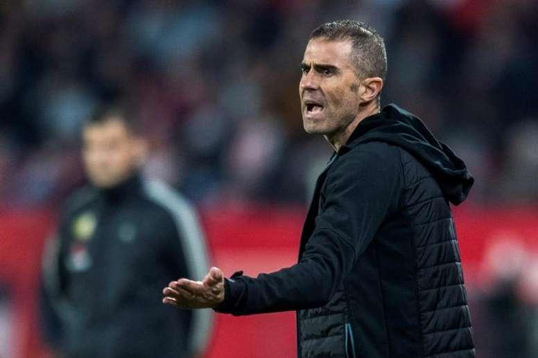 Garitano reconoció la intensidad inicial del Valladolid. EFE/Archivo