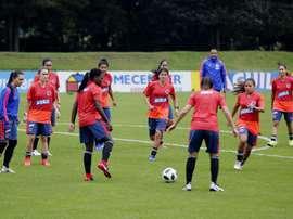 Colombia volvió a entrenarse 250 días después. EFE