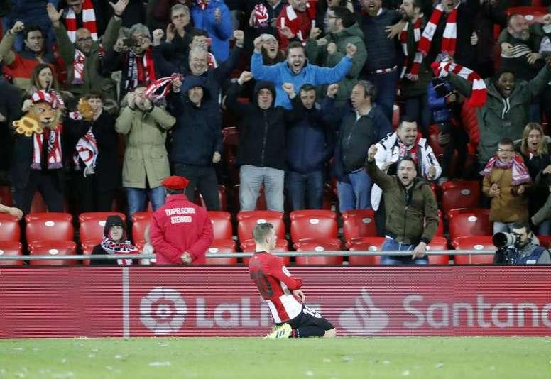 El Athletic ganó de manera agónica. EFE