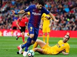 Três referências uruguaias no Barceloa-Atlético de Madrid. EFE