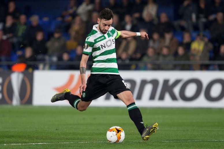 Real Madrid are still interested in Bruno Fernandes. EFE/Archivo
