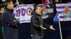 Sergio pidió una reivindicación como equipo ante el Alavés. EFE