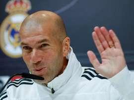 Zidane, optimiste avant le derby. EFE