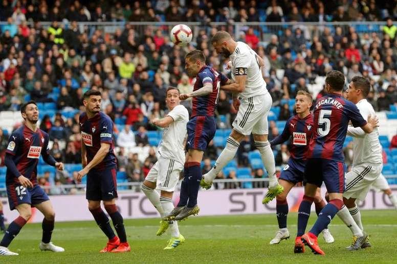 Posibles alineaciones del Eibar vs Real Madrid. EFE