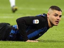 Conte ne compte pas sur Icardi. AFP