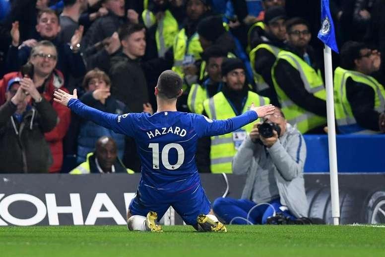 Eden Hazard ha sido elegido por los aficionados como el mejor de la temporada. EFE/Archivo