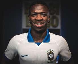 Vinicius revela conversa com Tite por Copa América. EFE/ Pedro Martins/Nike