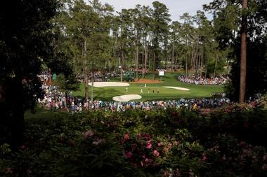 Registro panorámico de la segunda ronda de prácticas previas al Masters de Augusta 2019, en el Augusta National Golf Club, en Augusta (Georgia, EE.UU.). EFE