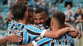 Um verdadeiro vendaval chamado Grêmio. EFE/Silvio Ávila