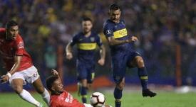 Tévez es duda para la Libertadores. EFE