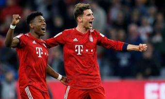 Leon Goretzka (d) está en su último año de contrato con el Bayern. EFE/Archivo
