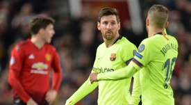 Barcelona delivered a positive result in the first leg of their clash with Man Utd. EFE