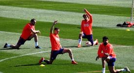 El Atlético está bajo mínimos de cara al partido ante el Celta. EFE