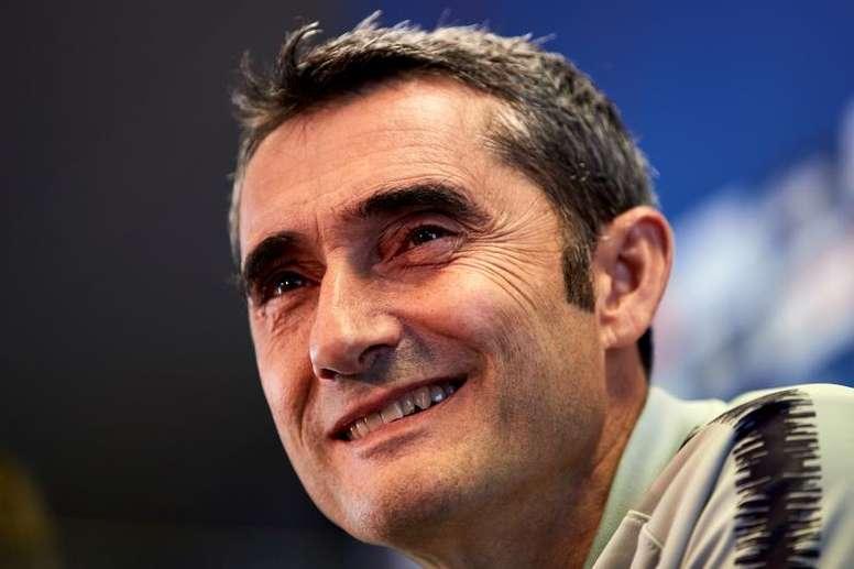 Valverde deixou a euforia de lado para o jogo frente ao Alavés. EFE