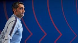 Valverde en conférence de presse. EFE