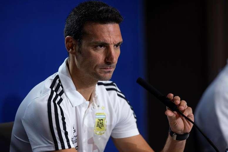 Scaloni quiere que Argentina siga mejorando. EFE