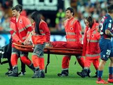 Piccini acudió al hospital tras su fuerte golpe. EFE