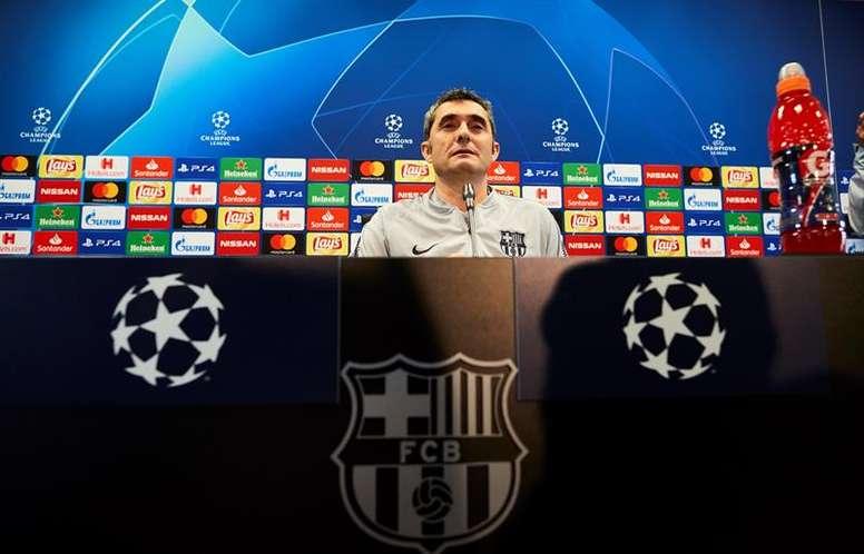 Valverde analizó el inminente duelo de vuelta contra el United. EFE
