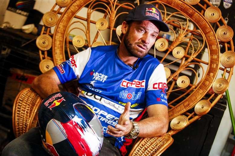 En la imagen, el campeón del Rally Dakar 2019 en categoría UTV, el chileno Francisco Chaleco López. EFE/Archivo