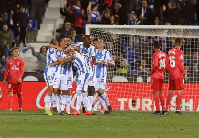 El Madrid empató a uno en su visita a Butarque. EFE