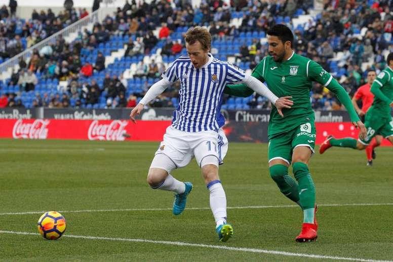 Ezequiel Muñoz cambia Leganés por Lanús. EFE/Víctor Lerena