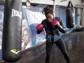 Fotografía de archivo del 26 de julio de 2017 de boxeadora olímpica panameña, Atheyna Bylon. EFE/Archivo