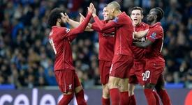 Mo Salah scored Liverpool's second. EFE