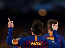 Um hat-trick frente à Real Sociedad pode levar Messi a assinar 600 golos pelo Barça. EFE