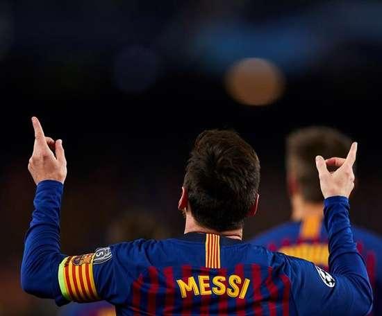 Las seis puntas de la corona de Messi. EFE/Archivo