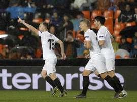 Accord entre Valence et Osasuna pour le prêt de Lato. EFE