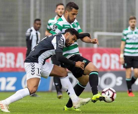 El Sporting se afianza en la tercera plaza de la Liga Portuguesa. EFE