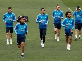 Le groupe du Real Madrid contre Getafe en Liga. EFE