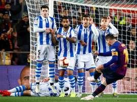 Les compos probables du match de Liga entre la Real Sociedad et Barcelone. EFE