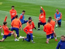 El Atlético va recuperando todos sus efectivos. EFE