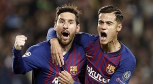 Leo Messi e Philippe Coutinho voltam a ser relacionados. EFE