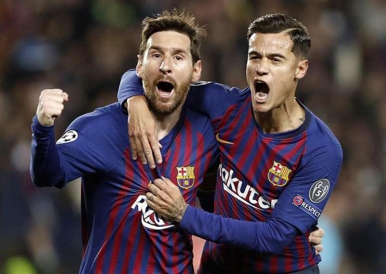 El Barça ganó a la Real sin ser el dueño del balón. EFE