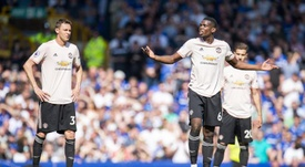 United's players and staff had a mass argument at Goodison Park. EFE