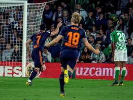 Guedes was the match-winner for Valencia in Seville. EFE