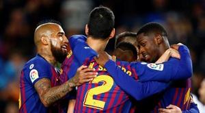 Le chemin qu'il reste au Barça pour le triplé. EFE